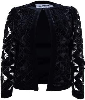 Tahari ASL Womens Velvet Lace Velvet Jacket