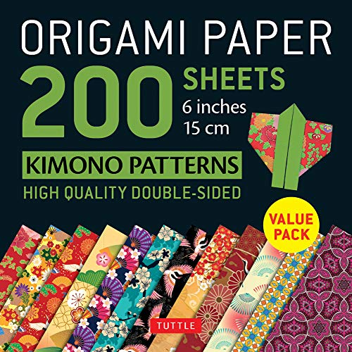 Origami Paper 200 sheets Kimono Patterns 6 (15 cm): Tuttle Origami Paper: High-Quality Double-Sided Origami Sheets Printed with 12 Patterns ... Included) (Origami Paper Pack 6 Inch)
