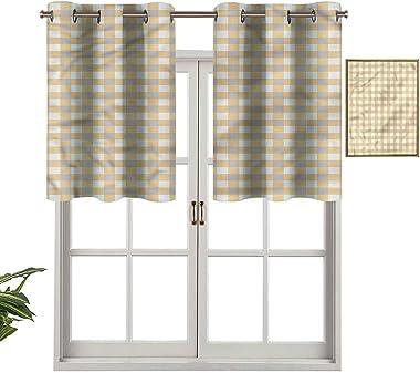 Hiiiman Lot de 2 panneaux thermiques extra courts pour fenêtre de salle de bain - 137,2 x 61 cm