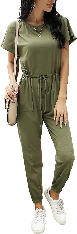 ROYLAMP Women's Mesa Mall Summer Long Jumpsuit Ela Sleeve Short Drawstring Max 82% OFF