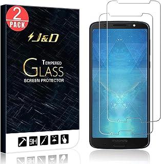 J&D Compatible para 2-Pack Moto G6 Plus Protector de Pantalla, [Vidrio Templado] [NO Cobertura Completa] Cristal Templado Protector de Pantalla para Motorola Moto G6 Plus - [No para Moto G6/G6 Play]