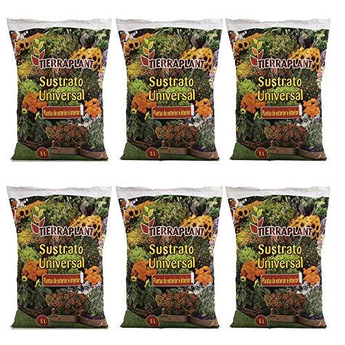 Unishop Substrato Universal para Plantas de Exterior e Interior, Substrato de Cultivo (6, 5L)