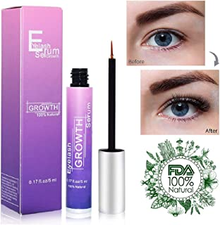 Eyelash Growth Serum Eyebrow Growth Treatment Eyelash Serum Booster Brow Serum Lash Enhancer Irritation Free Formula for Longer Fuller Thicker Lashes