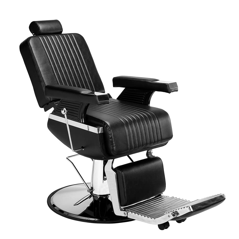 ZJYSM1018 Austin Mall Ranking TOP1 Men's Hairdressing Chair Reclining Blac High-End