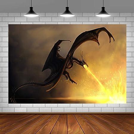 6x6FT Vinyl Photography Backdrop,Animal,Mythology Statue Art Photo Background for Photo Booth Studio Props