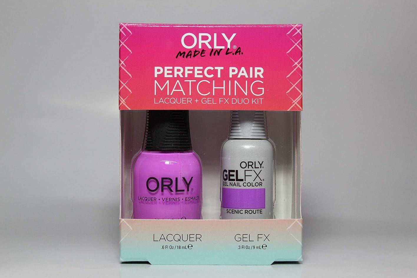 番号私たち社員Orly - Perfect Pair Matching Lacquer+Gel FX Kit - Scenic Route - 0.6 oz / 0.3 oz
