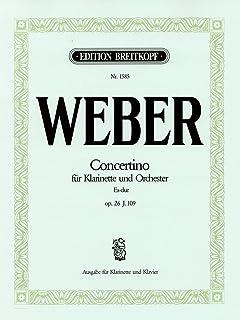 ウェーバー: 小協奏曲 変ホ長調 Op.26/ブライトコップ & ヘルテル社/ピアノ伴奏付クラリネット・ソロ...