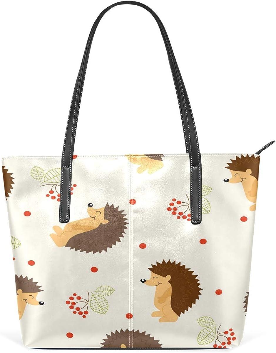 Cute Cartoon Hedgehog Max 89% OFF Women's Daily bargain sale Large Shoulde Lightweight Tote Bag