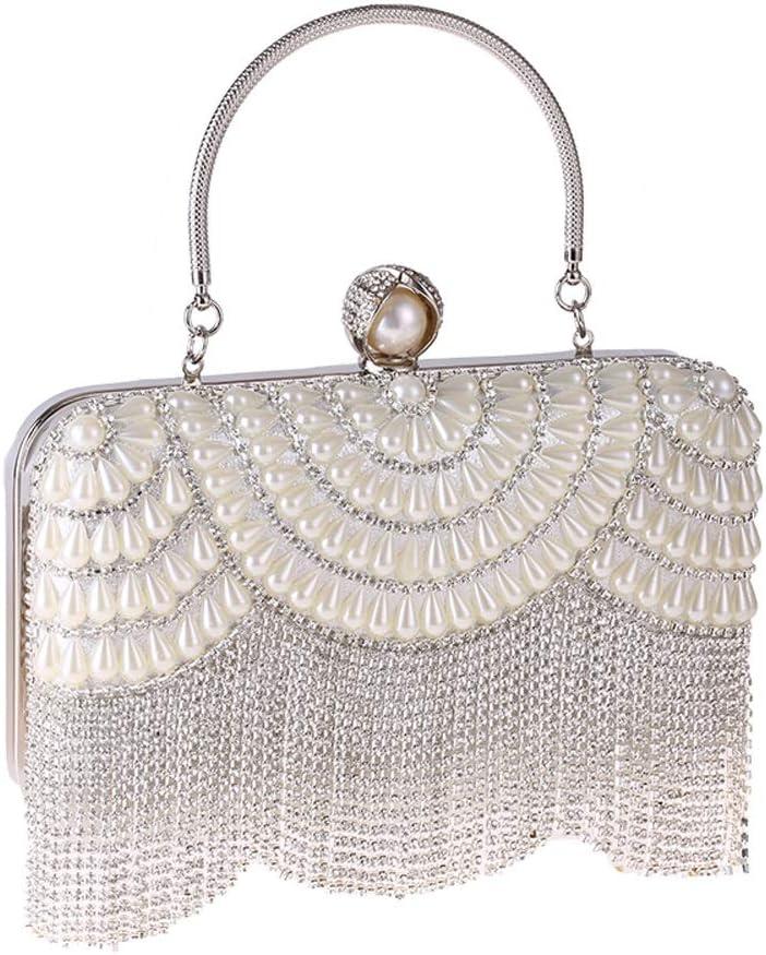 ZYLE Diamond Pearl Dinner Bag Tassel Hand Banquet Bag Lady Fashion Handbag Cheongsam Bag Diagonal Dress Bag Evening Bags