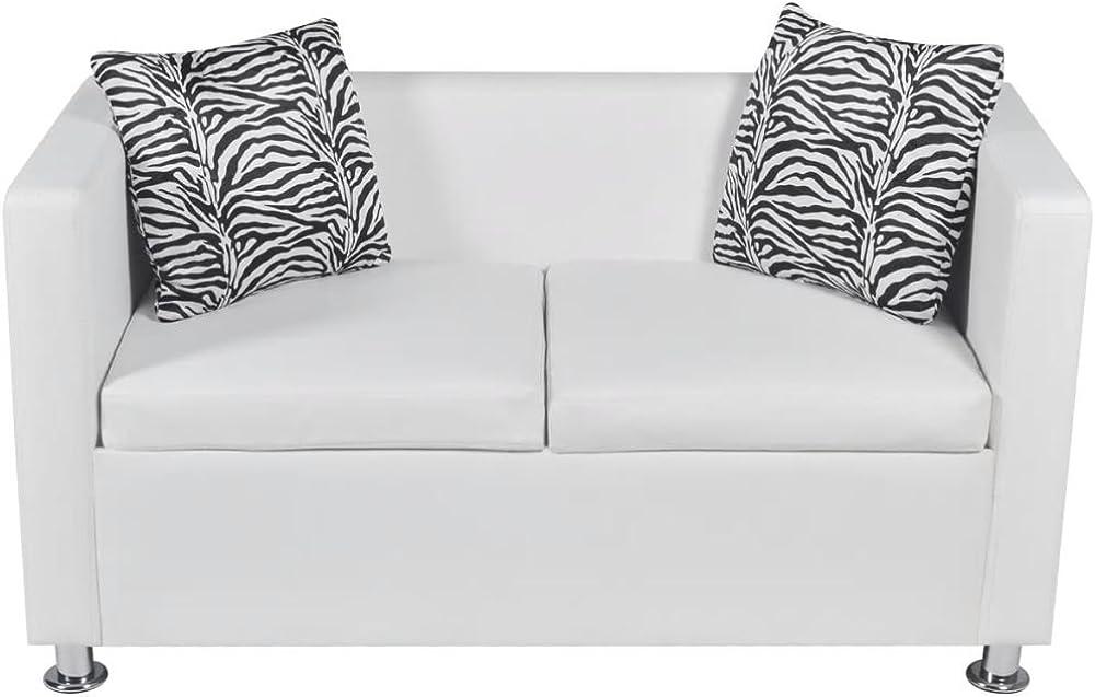Vislone, divano 2 posti in pelle, e 2 cuscini ZCW1571440407403EF