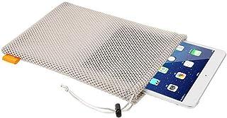 حقيبة تخزين برباط شبكية من النايلون باللون الرمادي من Partstock 4 قطع - 7.5 × 11 بوصة لأجهزة التابلت 9 بوصات وجهاز iPad Pr...