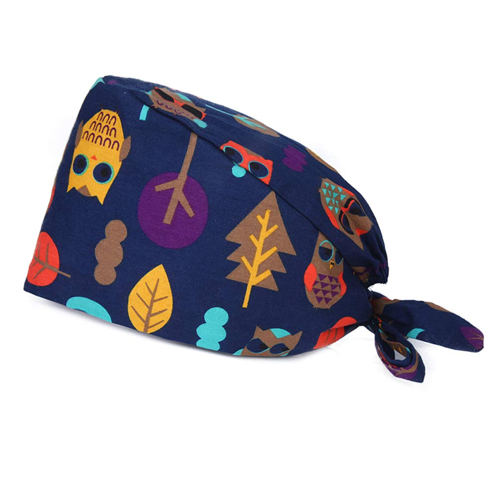 BOBIBI Elastic Bouffant Working Caps with Sweatband for Women//Men