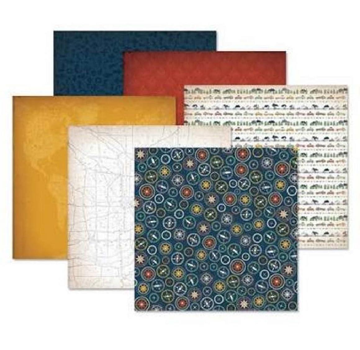 Creative Memories Gallivant Travel Paper Pack Double Sided Scrapbook (12/pk) 12x12