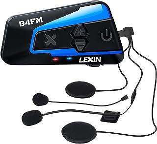 LEXIN バイク インカム 8riders 4riders 最大8人同時通話 音楽共有 インカム FMラジオ B4FM インカム バイク Bluetooth5.0防水インターコム バイク用インカム 音楽再生 音声コマンド IP67防水 無線機...