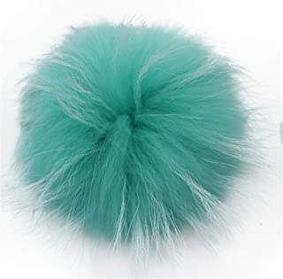 Queenbox Faux Fur Pom Pom Ball DIY Fur Pom Poms for Hats Shoes Scarves Bag Pompoms Keychain Charms Knitting Hat Accessories, Mint Green