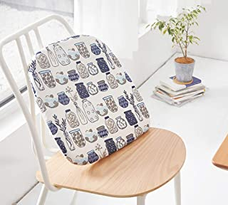 Best Peacewish Japanese Chair Pad Seat Cushions Cotton Linen Chair Cushion, Non Slip,Washable (Bottle, Set of 4) Review