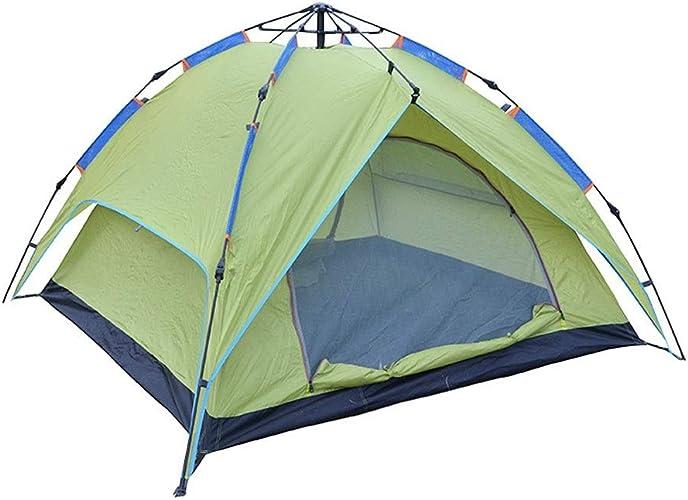 GZW001 Tente de Camping, Tente de Camping 3-4 Personnes, Tente Simple Double Couche avec Sac de Transport pour Le Camping la randonnée Les Voyages la Chasse