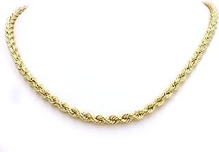 Collana unisex in oro giallo 18carati/750, forma a corda, 2,50 mm di larghezza, lunghezza a scelta