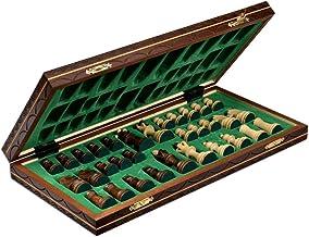 Wegiel Handmade Junior European International Chess Set – 16 Inch Folding Wooden..