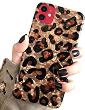 J.west Case for New iPhone 11 Luxury Sparkle Bling Translucent Leopard Print Soft Silicone Phone Case Cover for Girls Women Slim Fit Fashion Design Pattern Protective Case for iPhone 11 6.1 inch