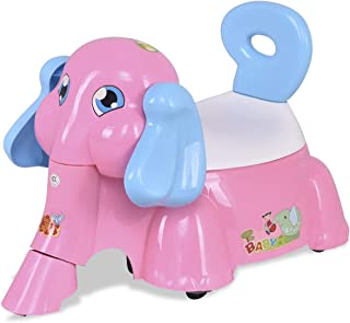 Pink Elephant Shaped Baby Potty Training Toilet with Music Function Toilet Seat Chair Portable Toddler Trainer Bathroom Toilet Girls Stool Music Fun Colorful PP