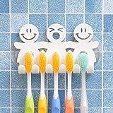 LINSUNG Mignon Support de Brosse à Dents avec Ventouse pour Murale de Salle de Bain Home Decor, Taille Unique