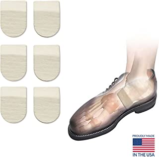 "Hapad Heel Pads, Achilles Inserts, Heel Cushion Pads - 2-1/2"" x 5/16"" (WxH) Pack of 3 pairs of Hapad Heel Cushion Pads"