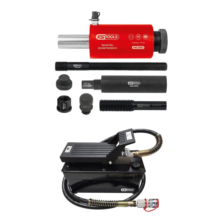 【Amazon.co.jp 限定】KS TOOLS 空気油圧ポンプと油圧ユニット16トン 13個 Hydraulic unit 16-tonnes with air hydraulic pump 13 pcs 440.9991