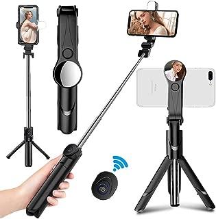 HuaweiDi Piu Samsung treppiede Bluetooth Selfie Stick con otturatore remoto Wireless Rimovibile Mini Bastone Portatile Estensibile per iPhone SODIAL Bastone Portatile Leggero