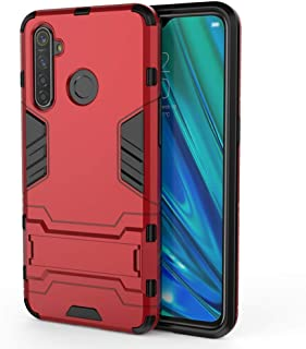 GARITANE Armor Case for Oppo F5/A73/A75/A75S,Heavy Duty Shell Soft TPU + Hard PC Shockproof Rugged Back Cover with Kickstand (Red)