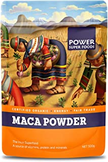 Power Superfoods Organic Origin Series Maca Powder 500 g, Maca Powder 500 Grams