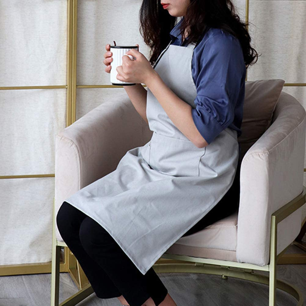 UPKOCH Waterproof Oil Proof Apron with Pockets for Home Restaurant