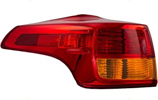 Drivers Taillight Tail Lamp Quarter Panel Mounted Lens Replacement for 13-15 Toyota RAV4 81561-42160 AutoAndArt