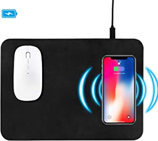Wireless Charger Mouse Pad, Fast Wireless Charger,QI Wireless Mouse Pad for Samsung Galaxy S10/S9/S8 Plus Note 9/8 iPhone Xs Max/XR/X/XS/8/8 Plus (Black-1)