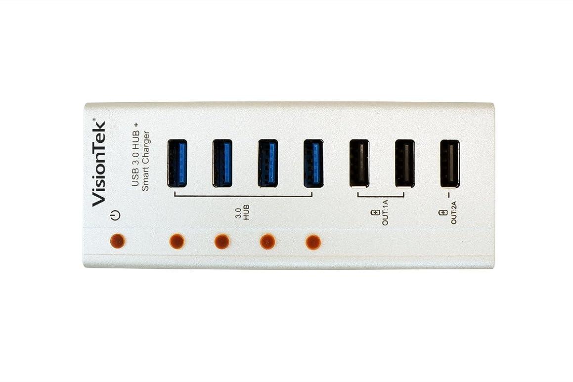 VisionTek USB 3.0 7 port Hub - Charge and Sync - 900725