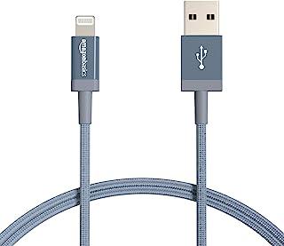 Amazonベーシック ライトニングケーブル ナイロン編組 USB MFi認証済 iPhone充電ケーブル ダークグレー 0.9m 2本入