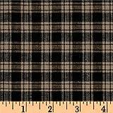 A.E. Nathan FB-066 Homespun Basics Plaid Quilt Fabric By The Yard, Black/Natural