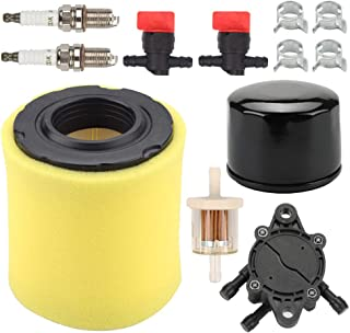 Fuel Li 808656 Fuel Pump with 796032 591583 Air Filter 492932 Oil Filter Kit for Briggs and Stratton 21B807 Engine