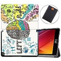 MAITTAO Slim Folio For Verizon ASUS ZenPad Z8S Case ZT582KL 2017 Release, Magentic Smart Stand Cover with Wake/Sleep for Verizon ASUS ZenPad Z8S 7.9-Inch Tablet Sleeve Bag 2 in 1, Flowers & Leafs 11