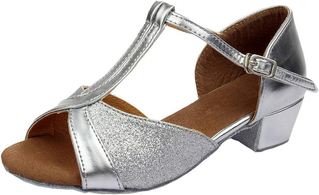 Pzhhzpingg High Heels for Kids Sequins Girls Princess Pa Sandals Max 85% OFF Max 65% OFF