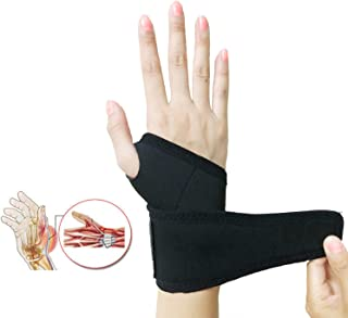 Wrist Brace,  Adjustable Elastic Self-Heating Pressure Support Relief Pain from Tenosynovitis,  Arthritis,  Carpal Tunnel,  for Right and Left Hands for Men and Women One Piece Black