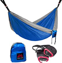 Crabby Gear Kings Peak Camping Hammock - 11 Ft. Double Hammock with 30 Second Suspension System - Tree Hammocks - Nylon Straps - Portable - Lightweight - Ultimate Hang