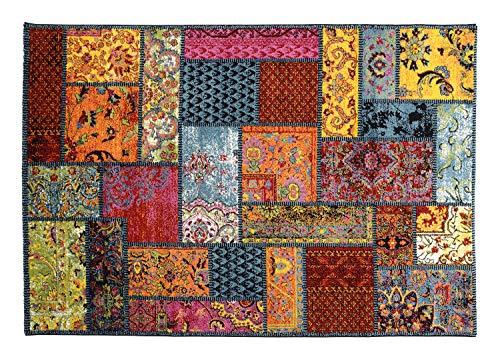 ARTWORK GLORI moderner Designer Teppich bunt in multicolor, Größe: 80x150 cm