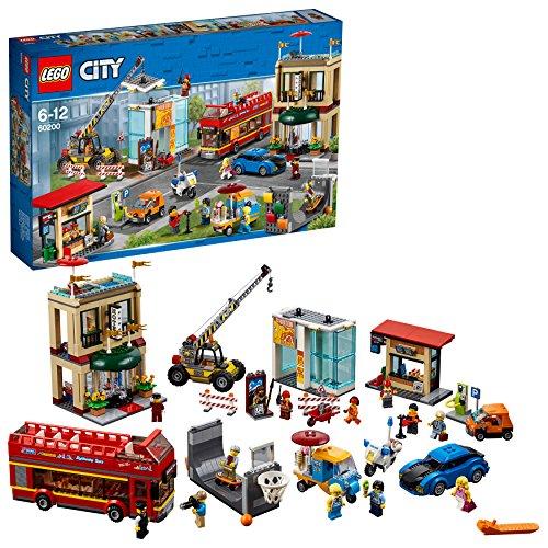 LEGO City - Gran Capital, Juguete Creativo de Construcción con Coche, Hotel, Autobús, Moto y Grúa para Niños y Niñas de 6 a 12 Años, Incluye Minifiguras (60200)