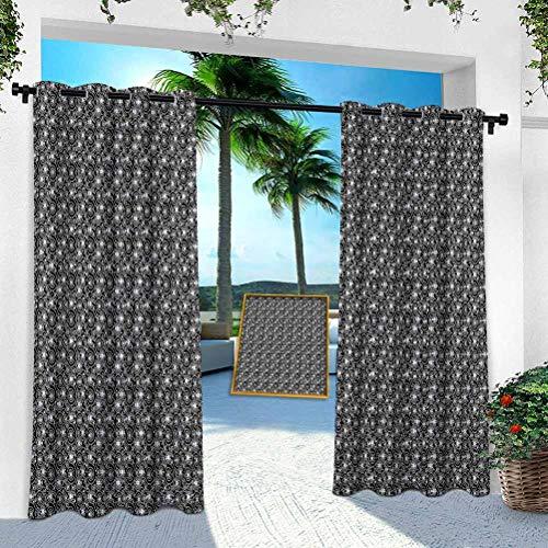 Aishare Store - Cortina para patio al aire libre, diseño abstracto y geométrico de estilo Hightech, 254 x 213 cm, resistente para interior para porche, balcón, pérgola, toldo de carpa (1 panel)