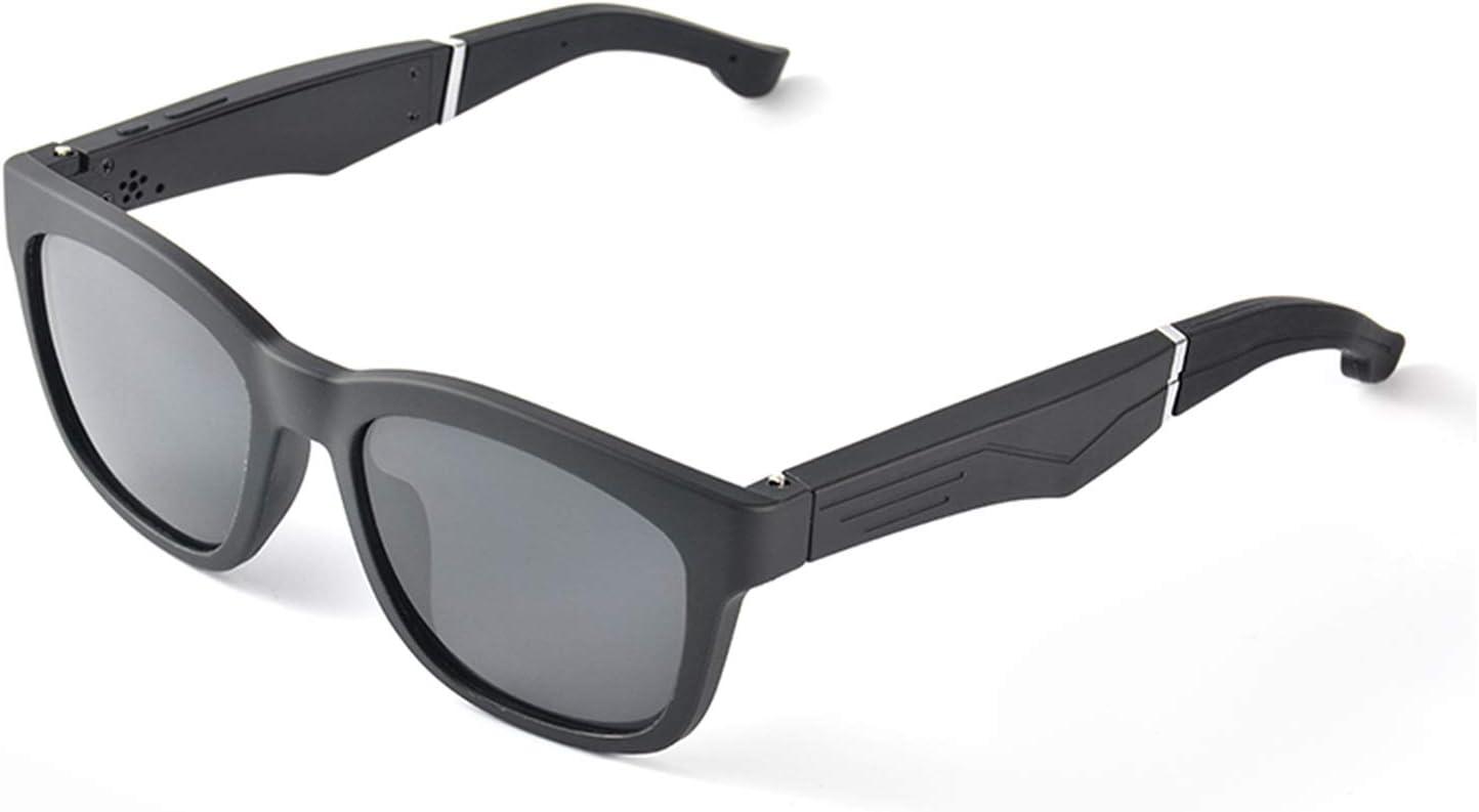 ZhaoZC Sunglasses Wireless Bluetooth Headset 5.0 Binaural Mini Call Mobile Phone General Smart Glasses, Compatible Model, Unisex,Black