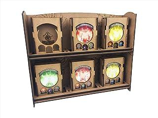 Display (mostruário Para 3 Decks) Modular De Deck Boxes Para Keyforge (unitário) Bucaneiros Jogos Mdf Cru
