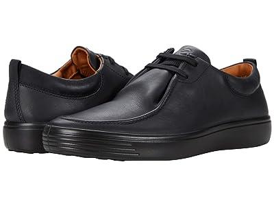 ECCO Soft 7 Wallaby Sneaker (Black/Black) Men