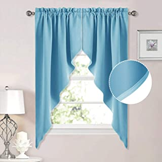 Best teal swag curtains Reviews