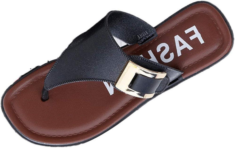 Btrada Fashion Casual Women's Beach Slipper Summer Home Flat Flip Flops shoes Female Outdoor Sandals